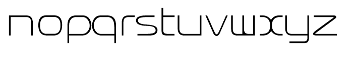 Rendt Physic Light Font LOWERCASE