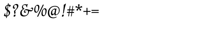 Renner Antiqua Italic Font OTHER CHARS