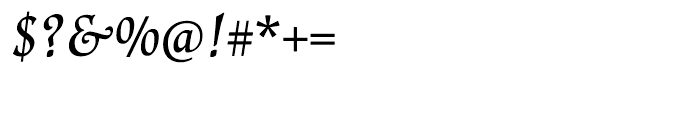Renner Antiqua Medium Italic Font OTHER CHARS