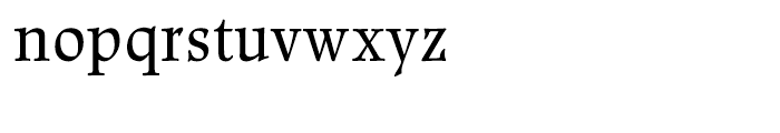 Renner Antiqua Regular Font LOWERCASE
