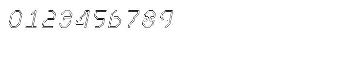 Retcon Square Outline Oblique Font OTHER CHARS