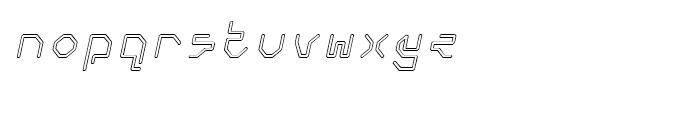 Retcon Square Outline Oblique Font LOWERCASE