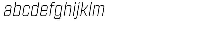 Revolution Gothic ExtraLight Italic Font LOWERCASE