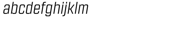 Revolution Gothic Light Italic Font LOWERCASE