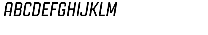 Revolution Gothic Regular Italic Font UPPERCASE