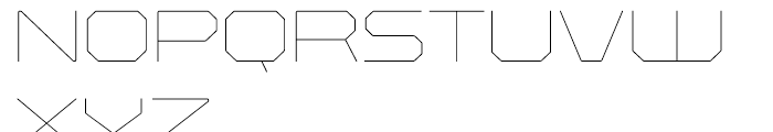 Rexlia UltraLight Font UPPERCASE