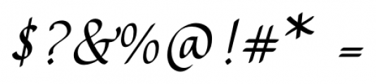 Rendezvous Regular Font OTHER CHARS