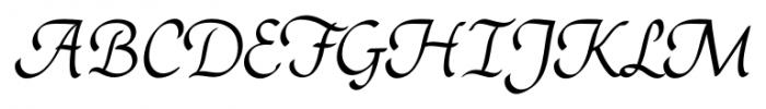 Rendezvous Regular Font UPPERCASE