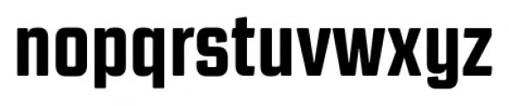 Revolution Gothic Extra Bold Font LOWERCASE