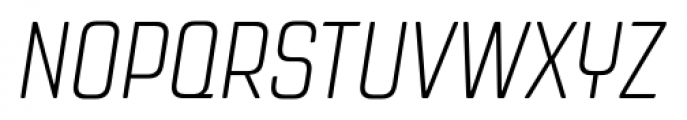 Revolution Gothic Extra Light Italic Font UPPERCASE