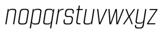 Revolution Gothic Extra Light Italic Font LOWERCASE