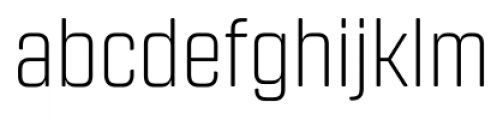 Revolution Gothic Extra Light Font LOWERCASE