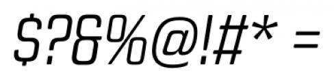Revolution Gothic Light Italic Font OTHER CHARS