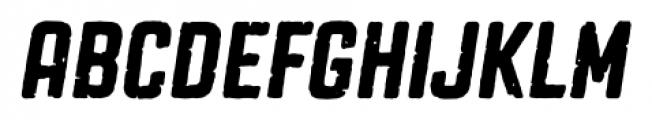 Revolution Gothic P Regular Italic Font UPPERCASE
