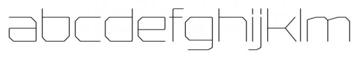 Rexlia UltraLight Font LOWERCASE