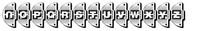 Reading Railroad 3 D Font UPPERCASE