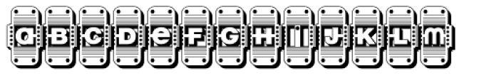 Reading Railroad 3 D Font LOWERCASE