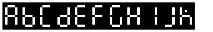 Readout One Back Font UPPERCASE