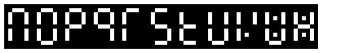 Readout One Back Font LOWERCASE