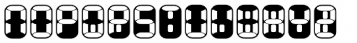 Readout Two Back Font UPPERCASE