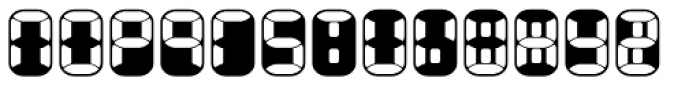 Readout Two Back Font LOWERCASE