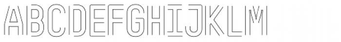 ReadySteadyGo Skinny Font UPPERCASE