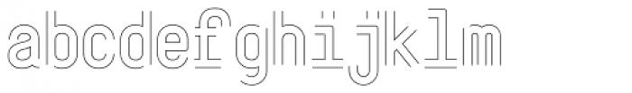 ReadySteadyGo Skinny Font LOWERCASE