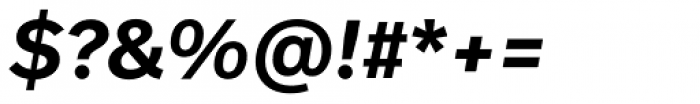 Real Head Pro Demibold Obl Font OTHER CHARS
