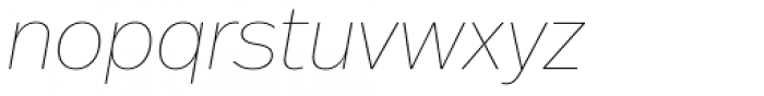 Real Head Pro Thin Obl Font LOWERCASE