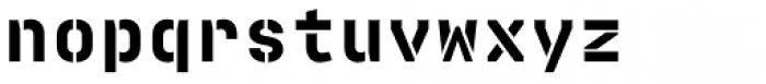 Realtime Stencil Black Font LOWERCASE