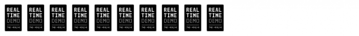 Realtime Stencil DEMO Font OTHER CHARS