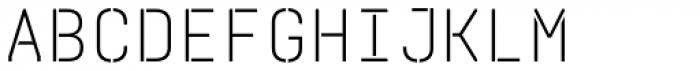 Realtime Stencil Light Font UPPERCASE