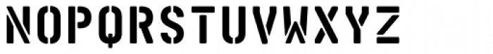 Realtime Stencil Rounded Black Font UPPERCASE