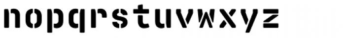 Realtime Stencil Rounded Black Font LOWERCASE