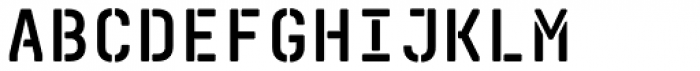 Realtime Stencil Rounded Bold Font UPPERCASE