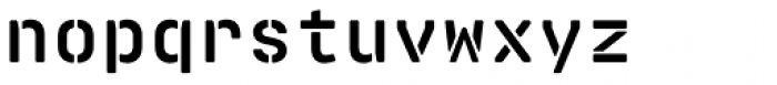 Realtime Stencil Rounded Bold Font LOWERCASE