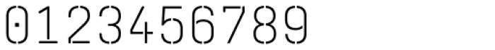 Realtime Stencil Rounded Light Font OTHER CHARS