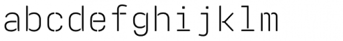 Realtime Stencil Rounded Light Font LOWERCASE