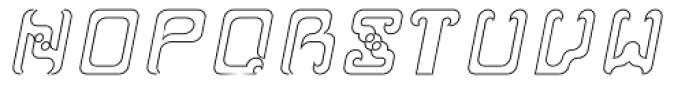Reaver Hollow Italic Font UPPERCASE