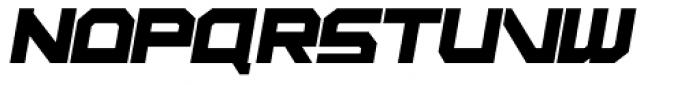 Rebirth Black Italic Font UPPERCASE