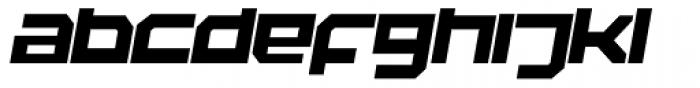 Rebirth Black Italic Font LOWERCASE