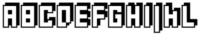 Rebuild Square Shadow Font UPPERCASE