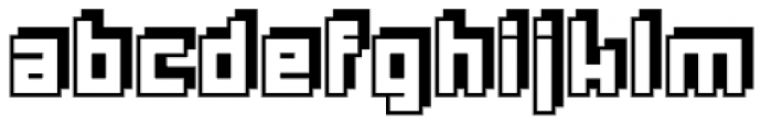Rebuild Square Shadow Font LOWERCASE