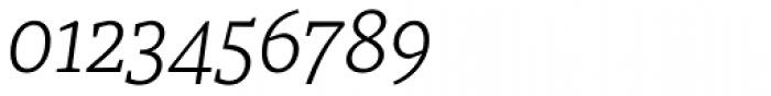 Recia Light Italic Font OTHER CHARS