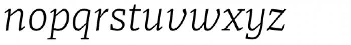 Recia Light Italic Font LOWERCASE