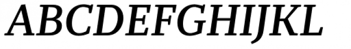 Recia Semibold Italic Font UPPERCASE