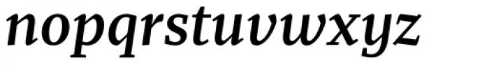 Recia Semibold Italic Font LOWERCASE