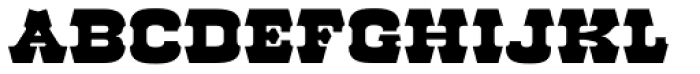 Red Dog Saloon Font UPPERCASE