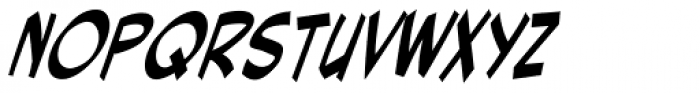 Red Star Italic Font UPPERCASE
