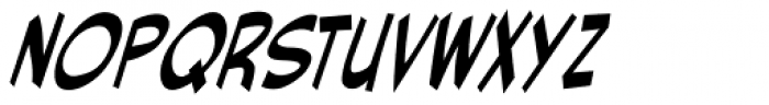 Red Star Italic Font LOWERCASE